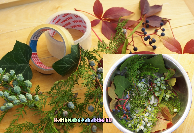 Ледяная ваза, венок и палочки для зимнего праздничного стола