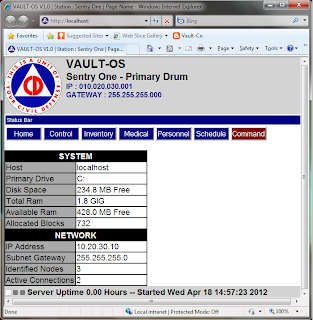 Vault-OS running in 3MB mini Apache server
