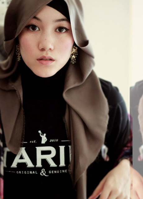 Red women with hijab Hijab fashion style hana tajima