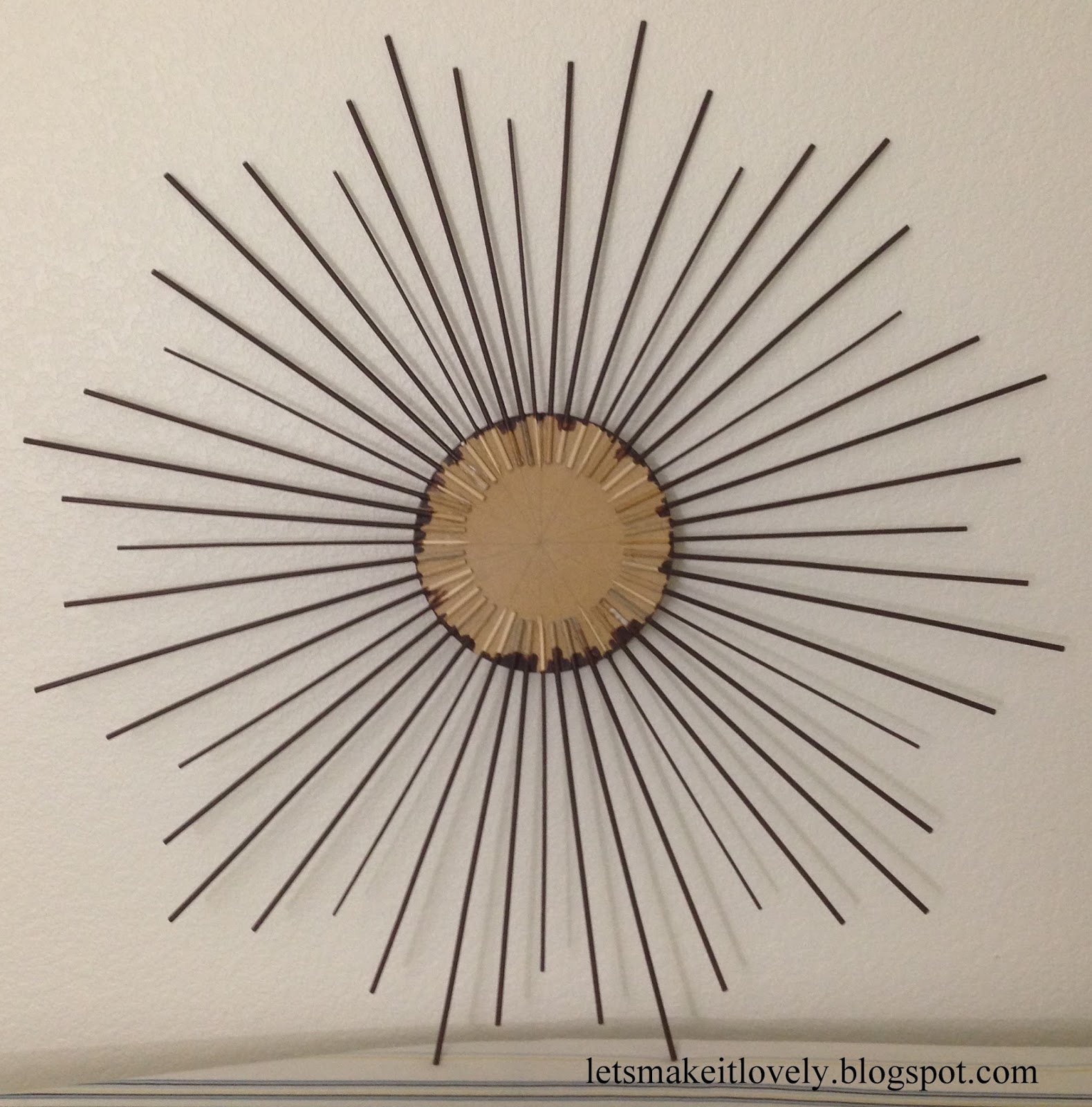 DIY Star Burst Mirror