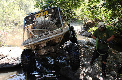Portal axles on Challenger 4x4's Land Rover Defender at the 2012 Rainforest Challenge Spain Portugal