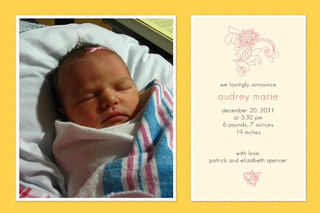free yellow birth announcement