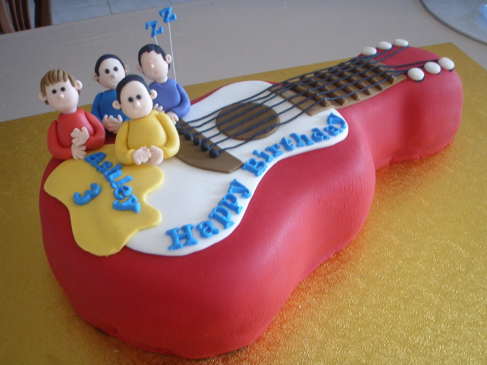 Guitar Cake Images With Name : Cake Story by Jenty: Wiggly Guitar Cake