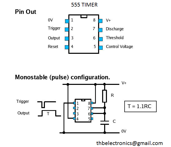 ic 555 timer pin diagram  ic  free engine image for user