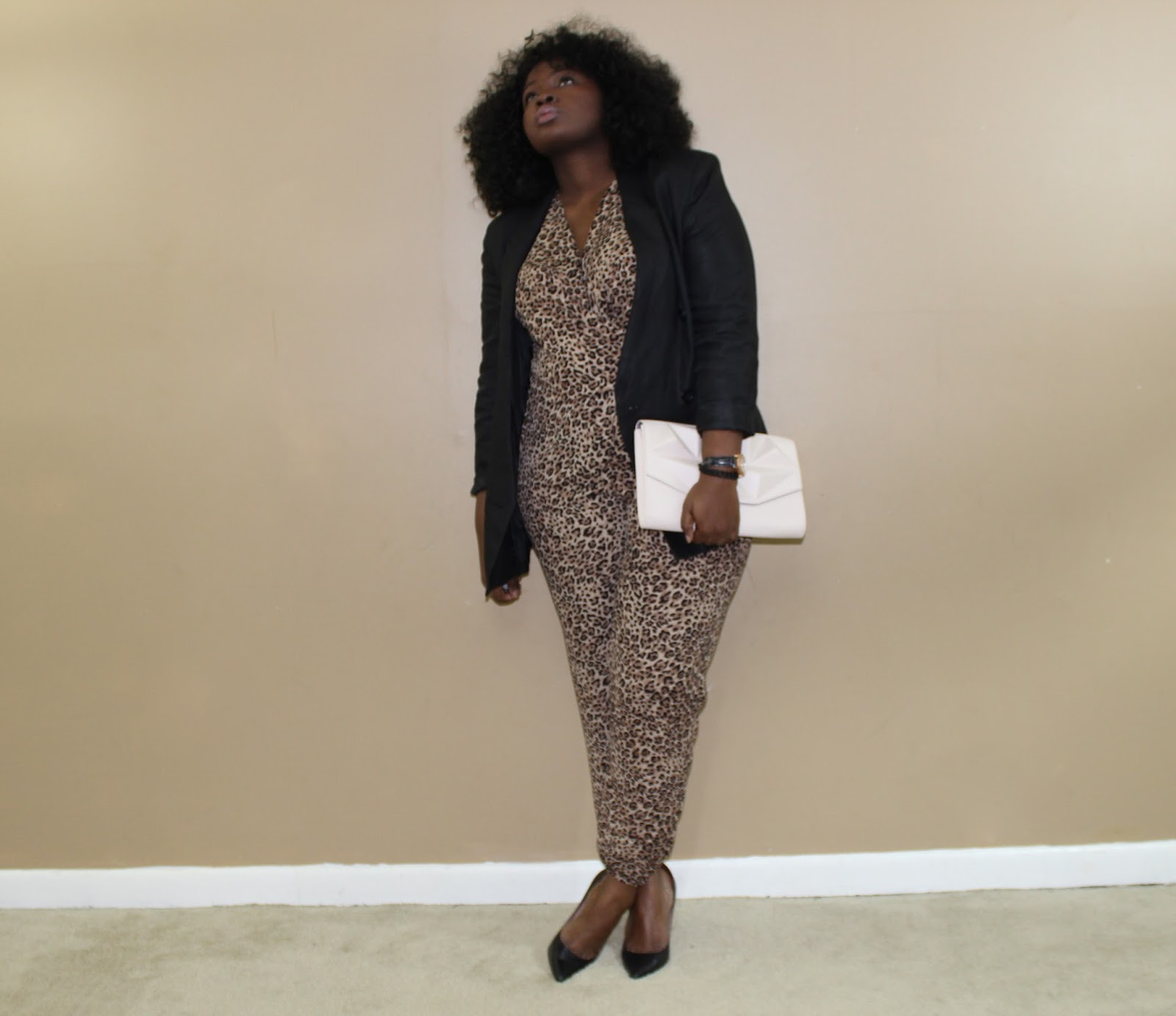 SAFARI GIRL LEOPARD JUMPSUIT FOREVER 21