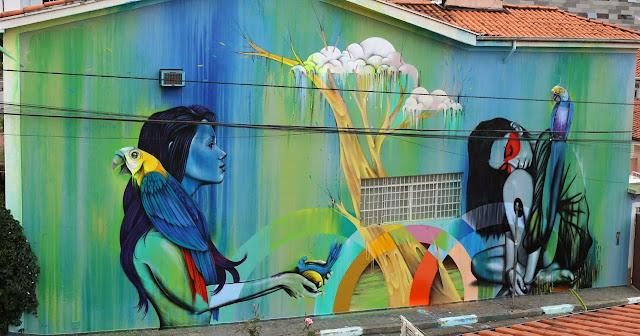 New StreetArt Collaboration By Fin DAC, Angelina Christina and Nove DigitalOrganico in Vila Madalena, Sao Paulo  1