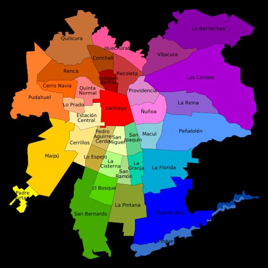 Chilean Giorgia: Mapas: casa y la Universidad Católica