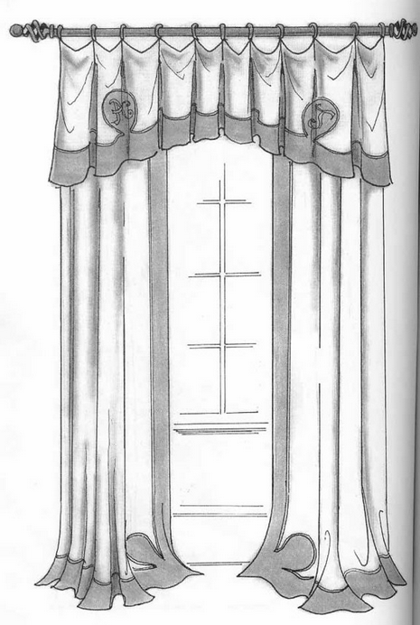 Hand drawing curtains dawi93 for Window design sketch