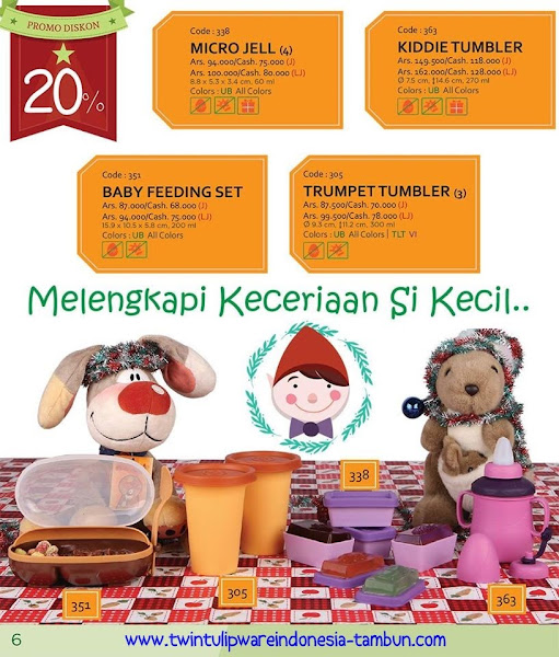 Promo Diskon Tulipware Desember 2015, , Oval Lunch Set, Double SHJ, Single Lunch Box