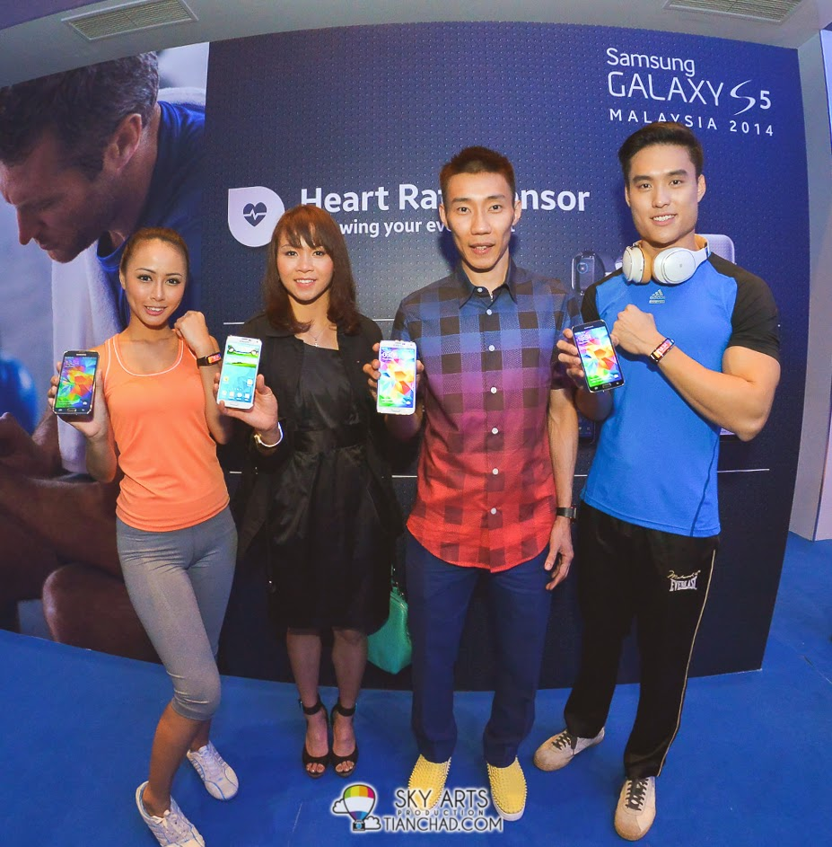 Pandelela Rining and Dato' Lee Chong Wei at Samsung GALAXY S5 Launch