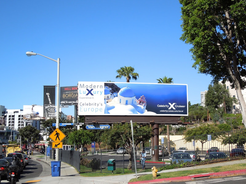 Celebrity X Cruises Europe billboard