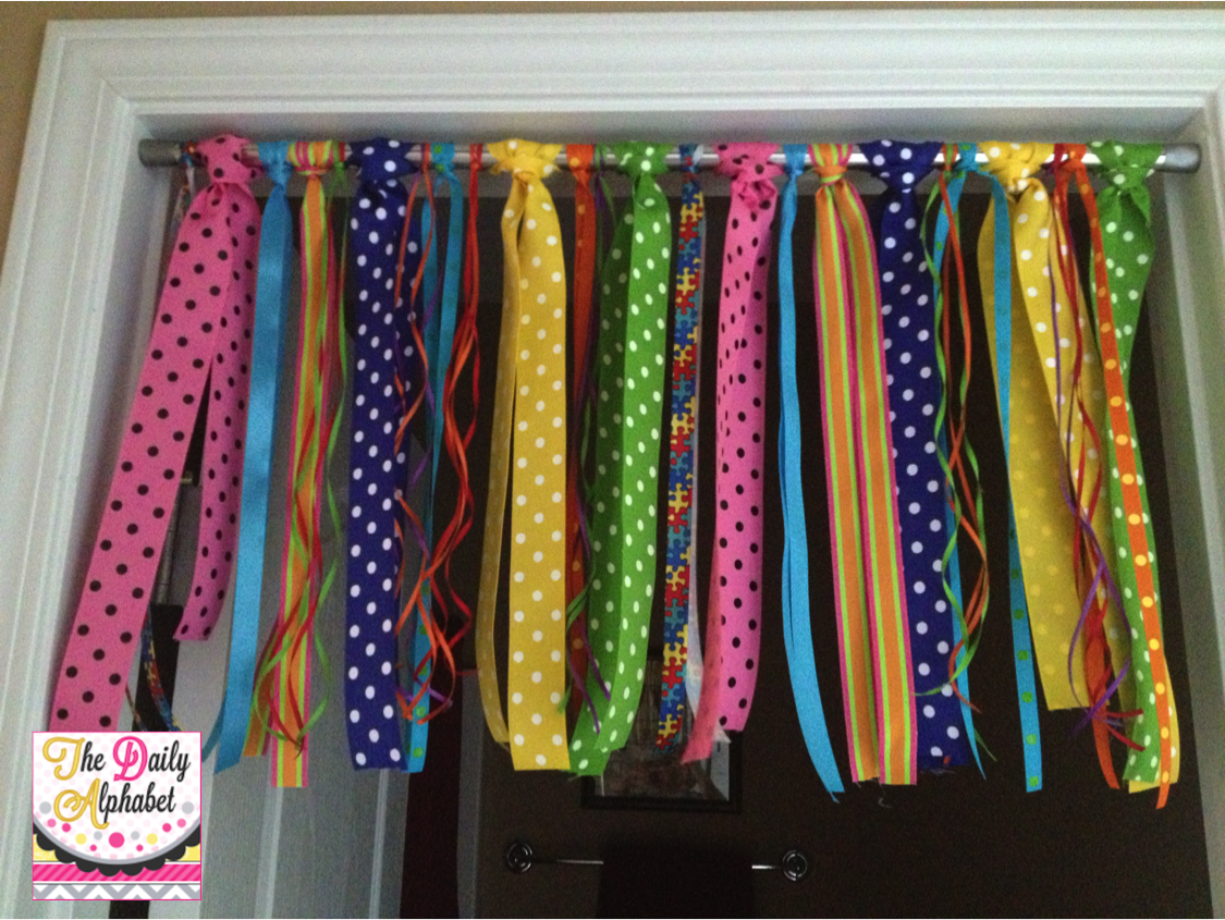 Classroom Ideas Diy ~ Monday made it ribbon curtains the daily alphabet