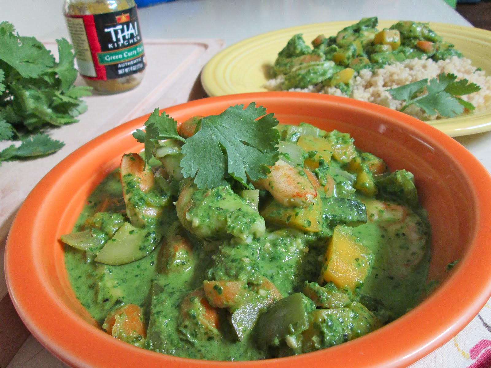 Everybody's Honey: Thai Green Curry with Shrimp and Butternut Squash