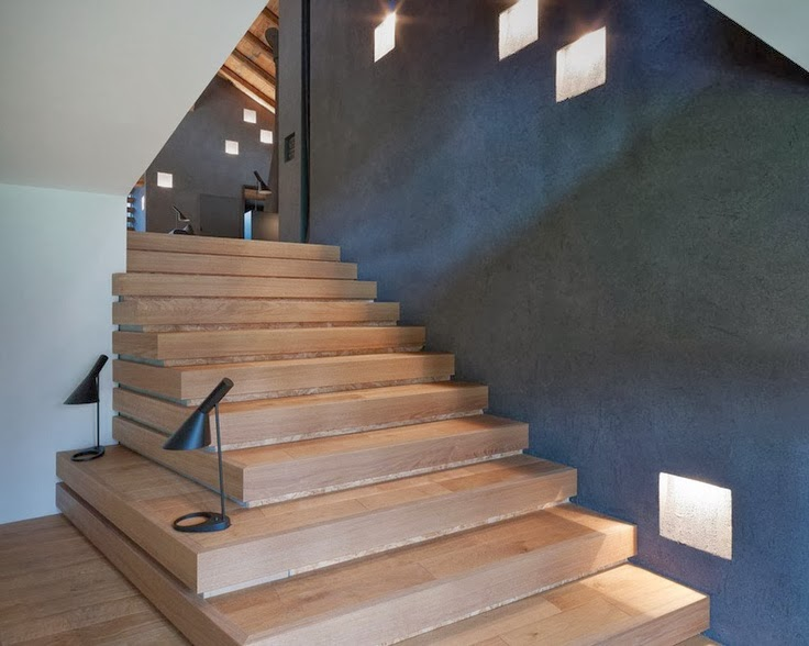 30 wooden types of stairs for modern homes architecture. Black Bedroom Furniture Sets. Home Design Ideas
