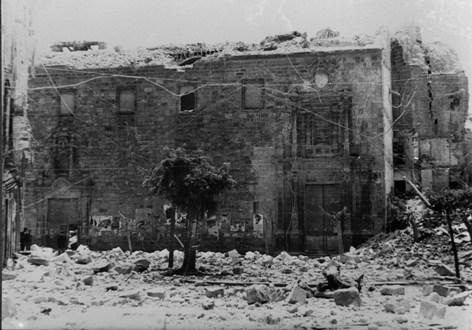 Guerra Civil, destrucción del campanario IGLESIA-DESTRUIDA-EN-1938