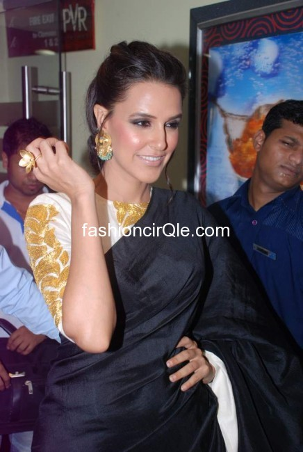 We love that ring she is showing off - (5) -  Neha Dhupia at Maximum Film Music launch