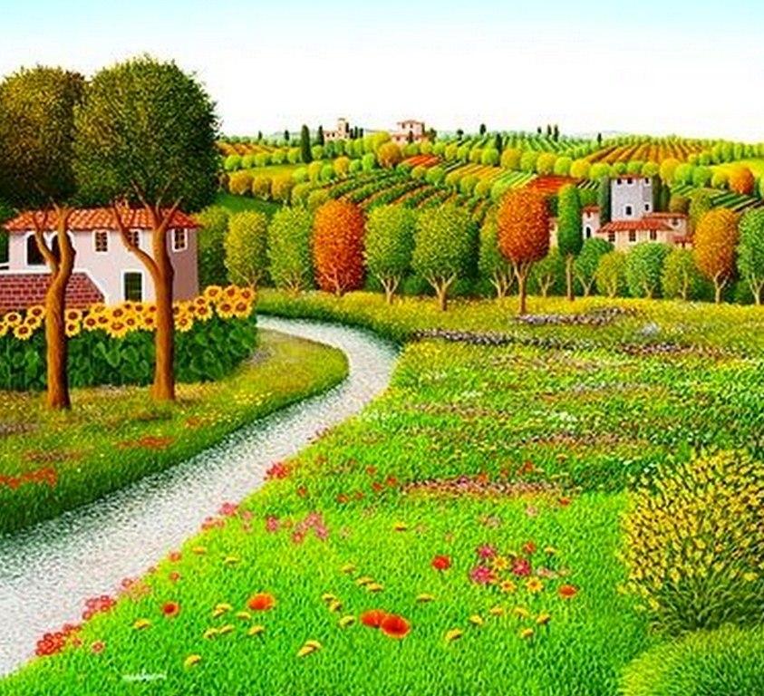 pintura moderna y fotograf a art stica cuadros naif paisajes