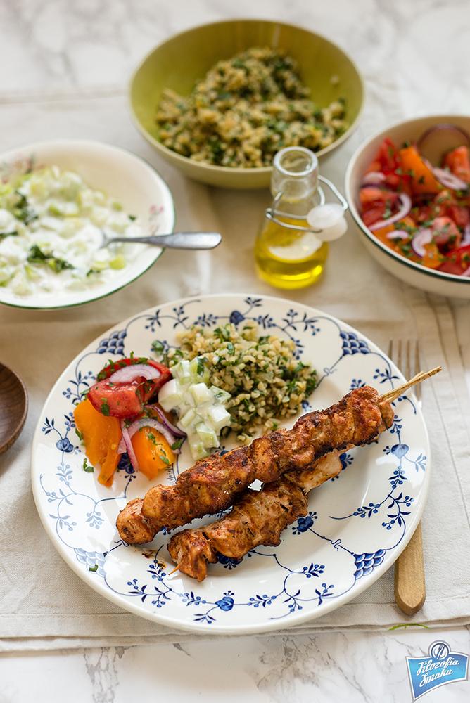 Szaszłyki z kurczaka po turecku