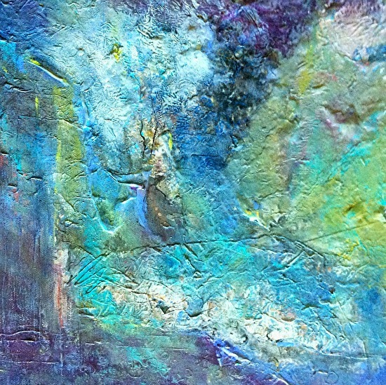 Daily painters of florida acrylic abstract art painting for Textured acrylic abstract paintings