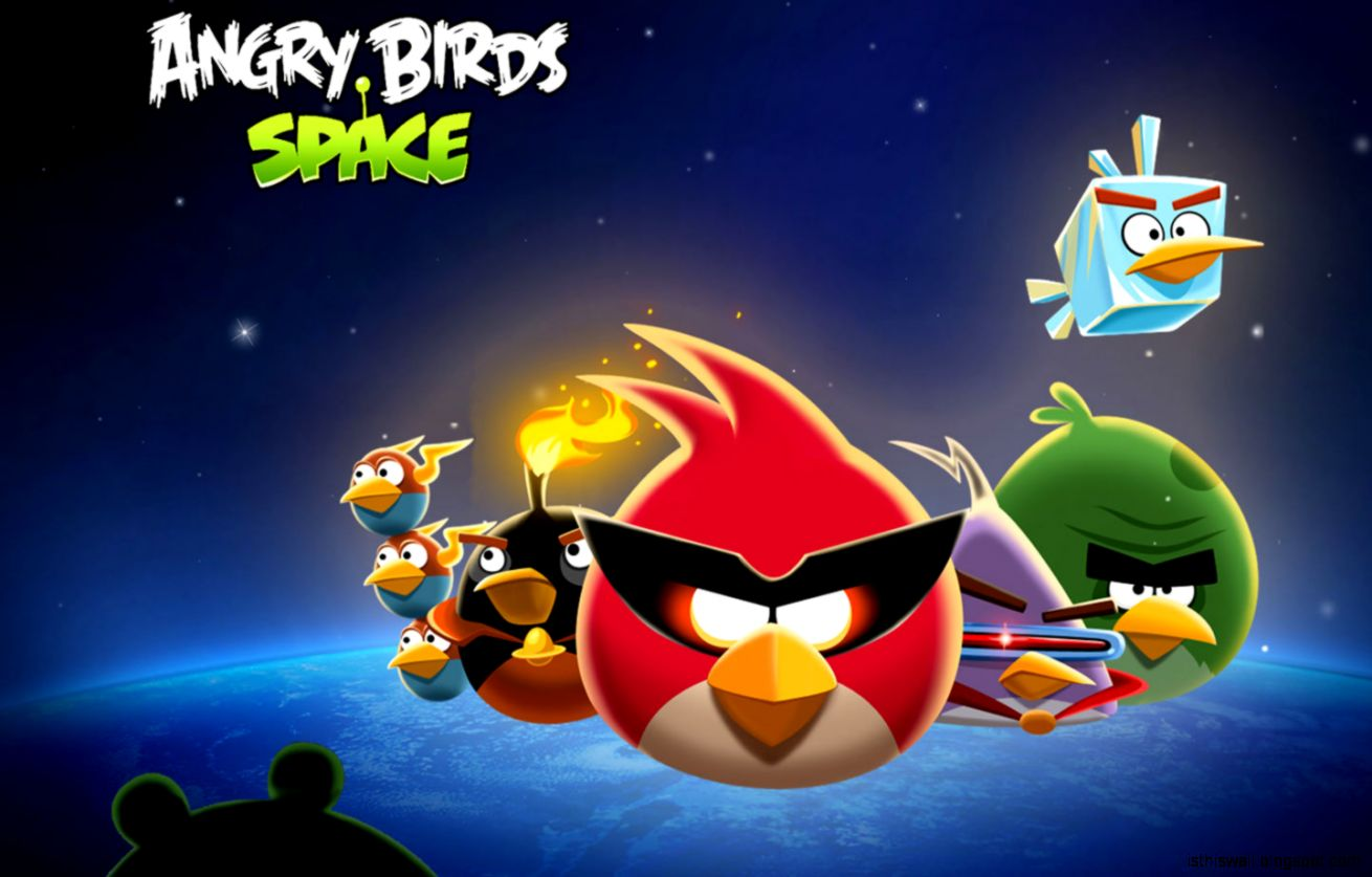 free angry bird space hd wallpaper this wallpapers