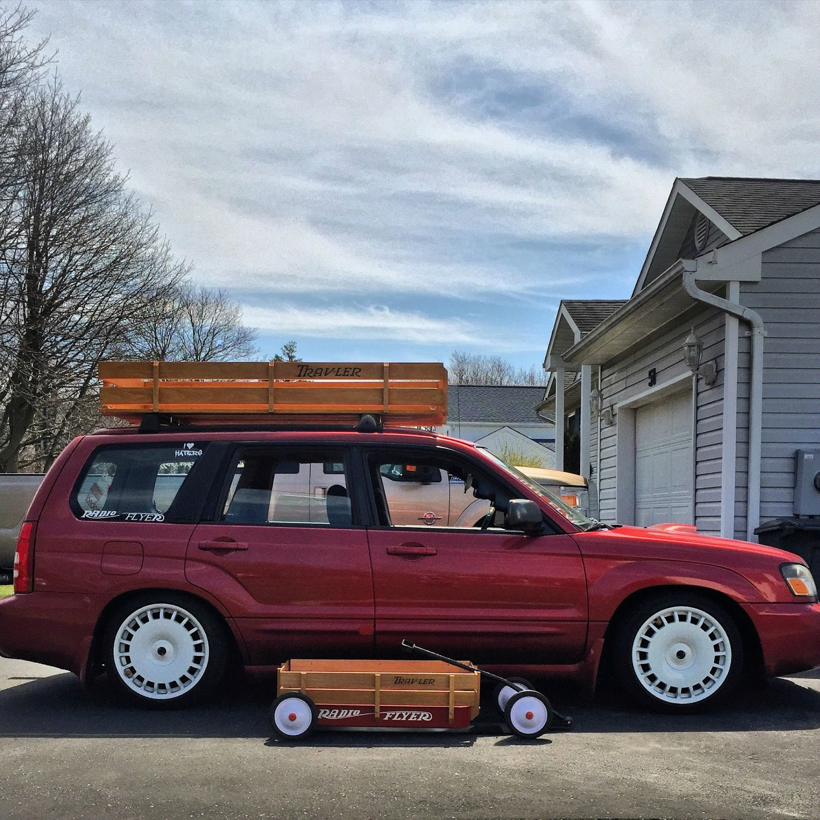 Daily turismo radio flyer 2004 subaru forester xt mechanically much has been done to this car from a performance perspective starting with the stock 25 liter ej series flat 4 that has an sti sourced ihi vanachro Choice Image