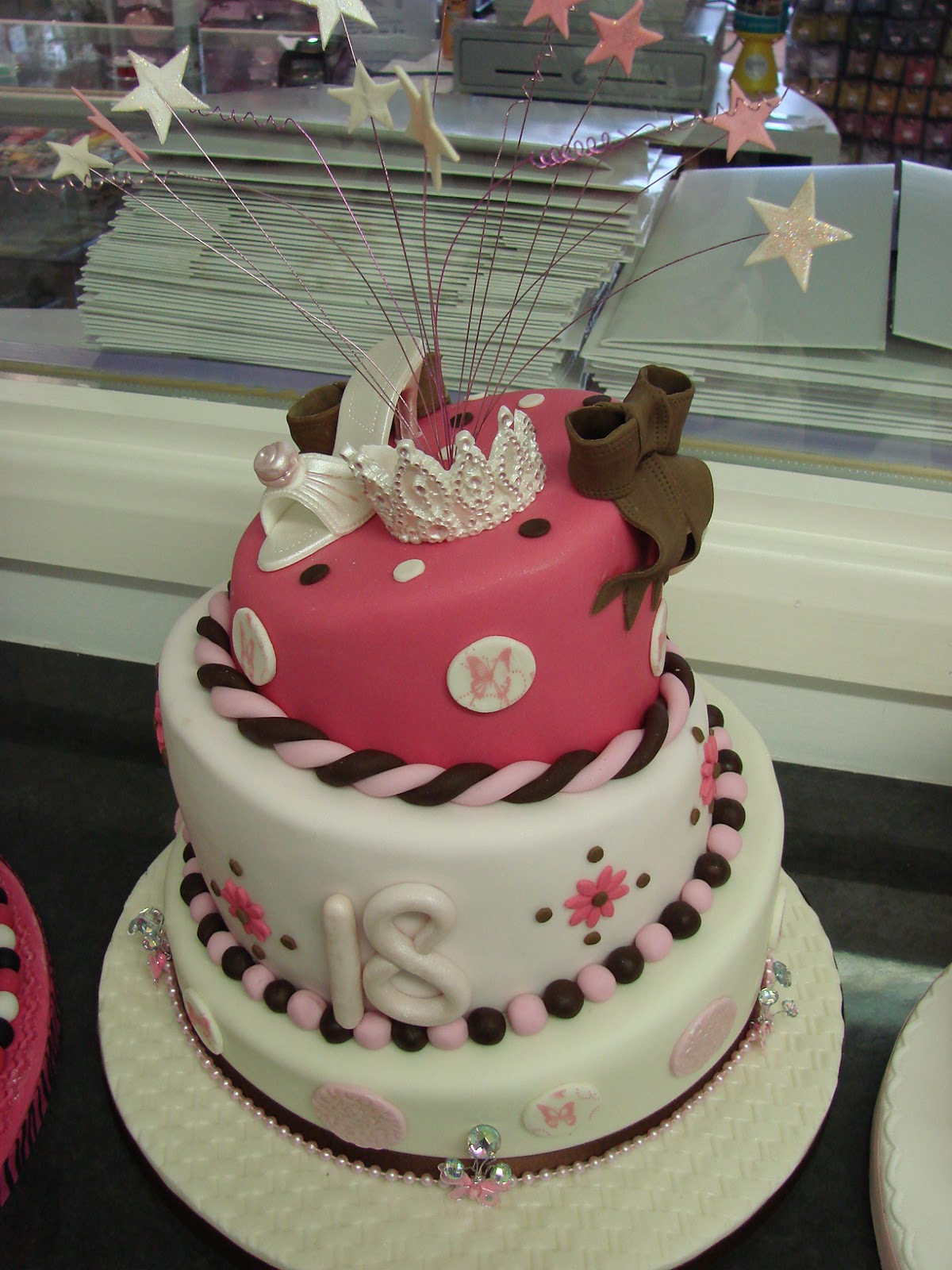 Sweet And Fancy 18th Birthday Cake