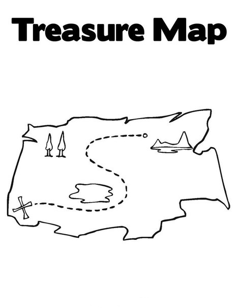 Treasure hunt free colouring pages for Treasure hunt coloring pages
