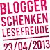 Welttag des Buches 2013 - Blogger schenken Lesefreude!