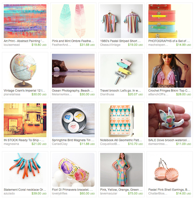 Sun-soaked giftguide on Etsy