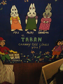 Back of Chalkboard I painted for Taban