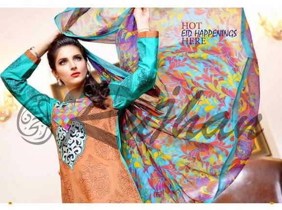 FestivanaEidCollectionByRujhanFabrics wwwfashionhuntworldblogspot 16  - Festivana Eid Collection 2014-2015 By Rujhan Fabrics