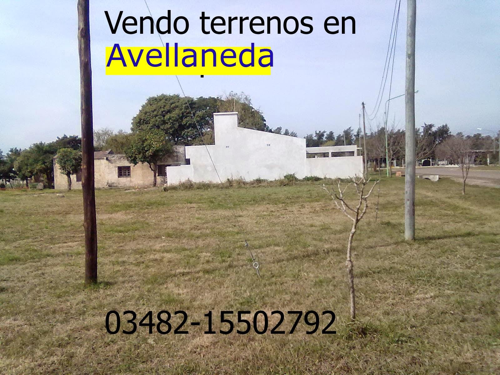 Vendo terreno en Avellaneda, Santa Fe