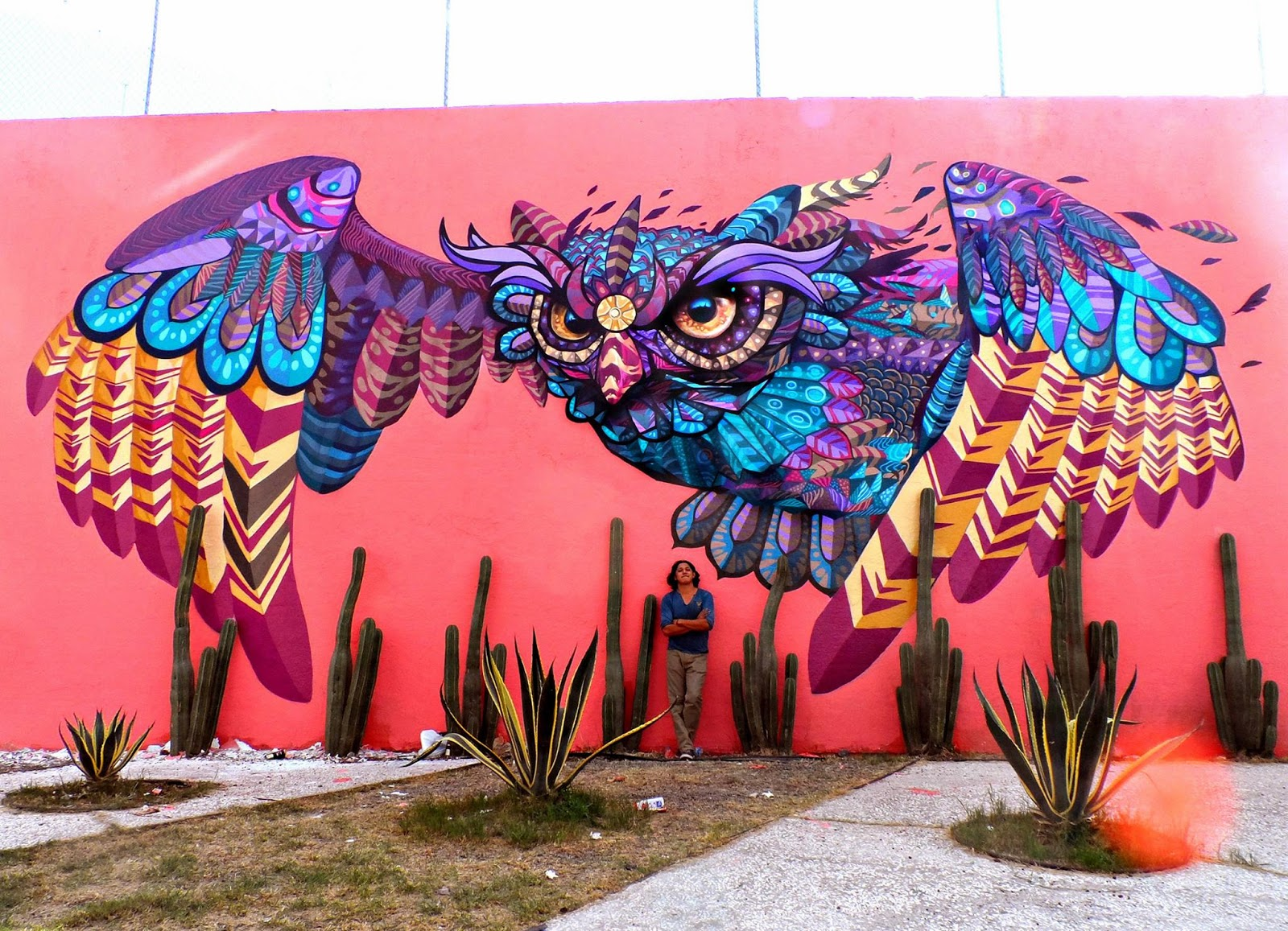 Farid rueda unveils a new series of murals on the streets for Arte mural en mexico