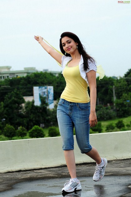 Cute u0026 Sexy Tamanna Bhatia Hq Photos in Yellow Tops u0026 Blue Jeans. ~ Hot Actress in the World