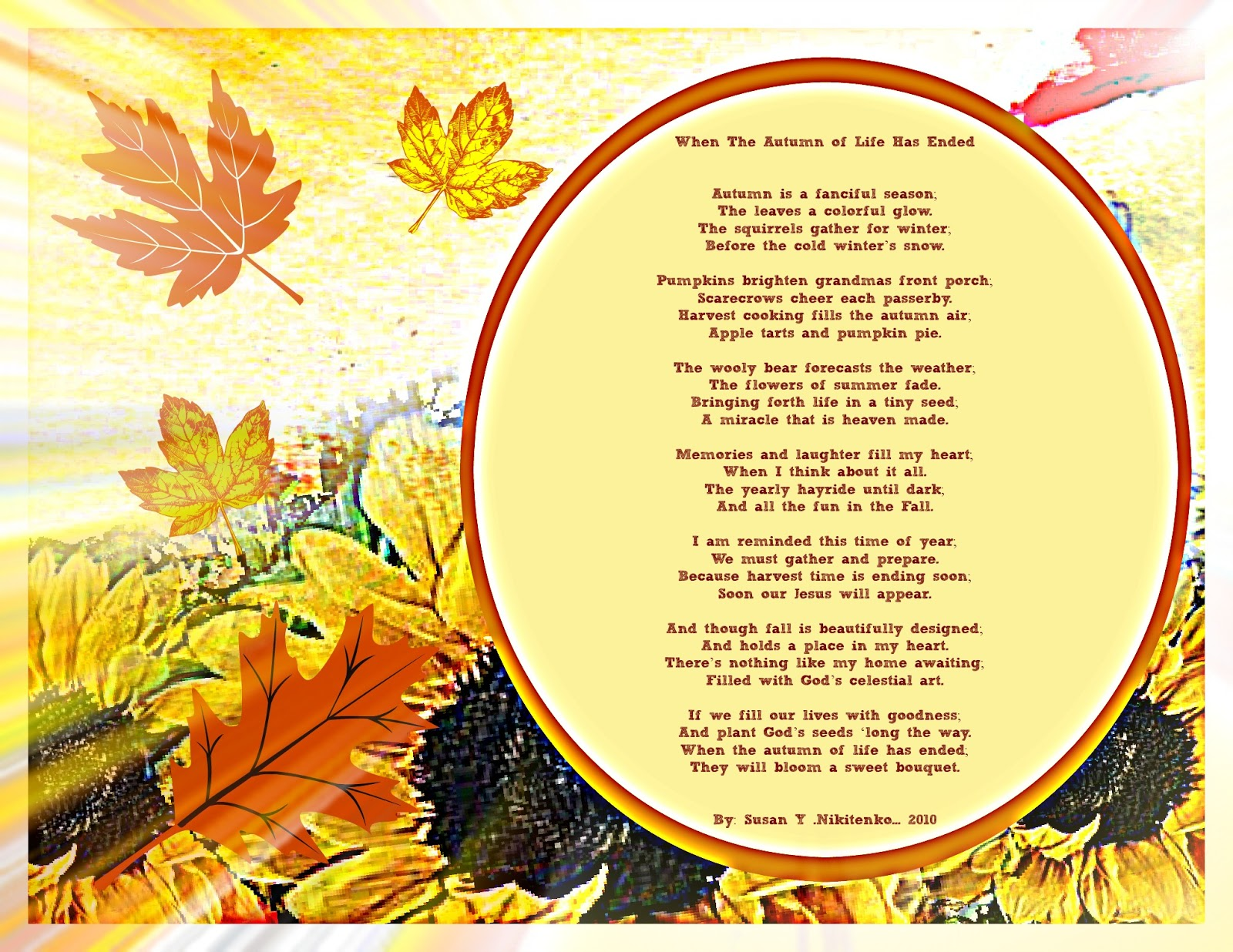 Images of autumn the poem when life has ended