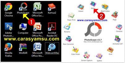 Buka Photoscape dan Klik Editor