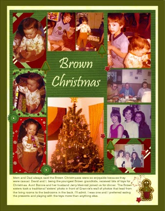 Scrapbook Layout Christmas Vintage