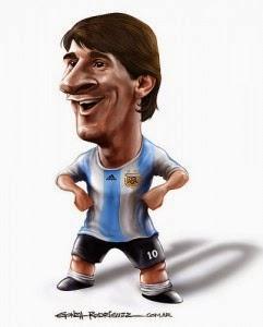 Gambar Karikatur Lionel Messi Piala Dunia 2014 Pemain Argentina