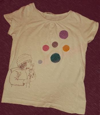 camiseta ilustracion pompas