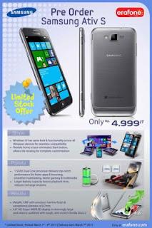 Pre Order Samsung Ativ S Sudah Dibuka di Indonesia