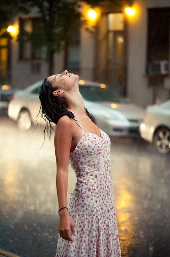 Ashley in the rain