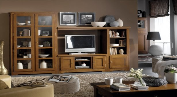 Imagenes de muebles rusticos para tv for Living de madera modernos