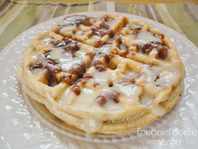 Cinnamon Roll Topping for Waffles & Pancakes from Frugal Foodie Mama ...