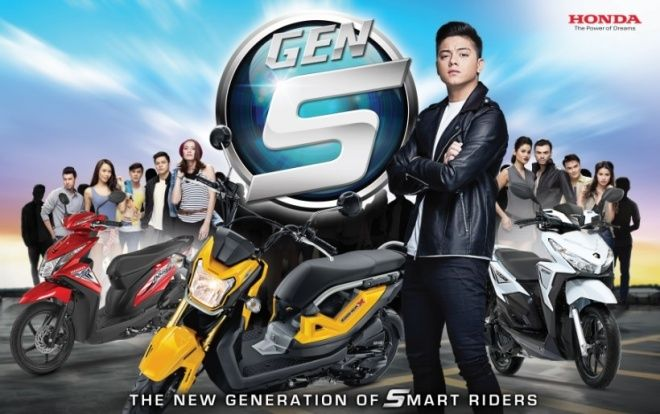 Daniel Padilla as The Face of The New Gen S Motorcycles
