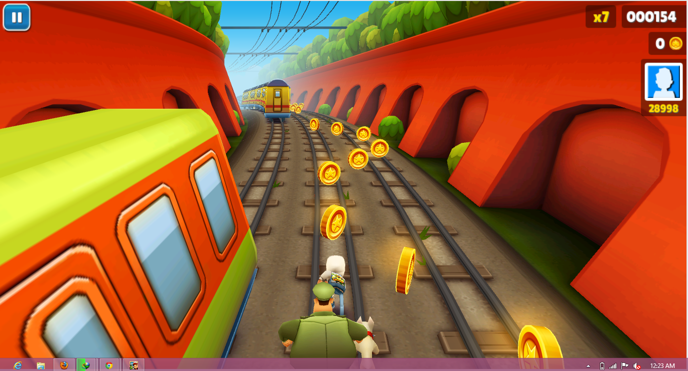 These are the some screenshot of subway surfers game.