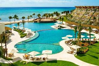 Hotel an der Karibkküste von Mexiko