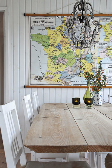 christina williams decorating with maps