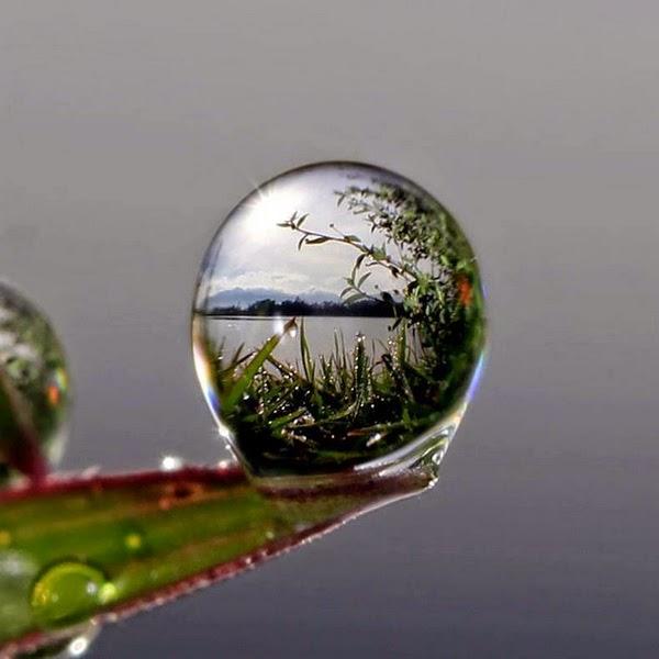 hình giọt nước phản chiếu