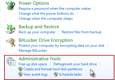 Administrative Tools Cara Mencegah Penggunaan Memori Berlebih Pada Windows 7