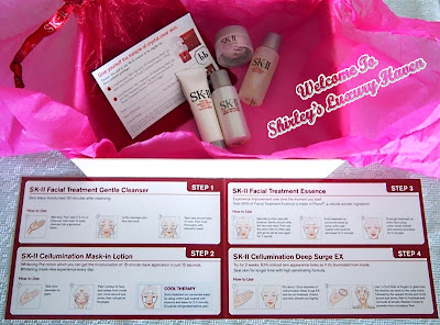 sk ii facial treatment samples